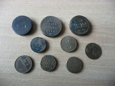 More details for 9 x antique early 19th century brass coin weights georgian etc