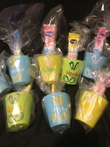 🐣PERSONALISED EASTER CUPS GIFT WRAPPED WITH SWEETS ANY NAME BUNNY CHILDREN🐣£2