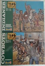 Vintage Revell Cowboys and Indians Models #2554 & 2555 1/72 scale