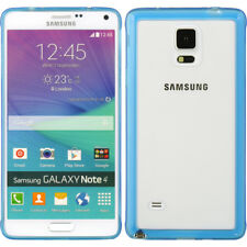 For Samsung Galaxy Note 4 - SOFT GUMMY RUBBER GEL SKIN CASE COVER BLUE