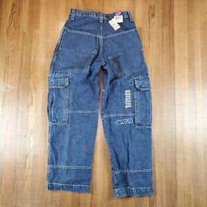 Vintage JNCO Cargo Jeans Sz 30x30 Carpenter Pocket Blue  NOS NEW