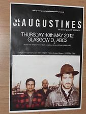 We Are Augustines + My Goodness - Glasgow may 2012 tour concert gig poster