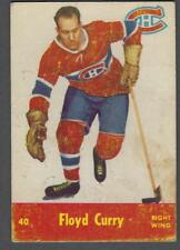1955-56 Parkhurst Montreal Canadiens Hockey Card #40 Floyd Curry