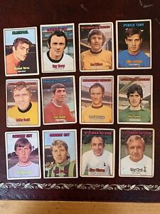 A&bc Orange Football Bubblegum Cards X12 3rd Series In Used Condition