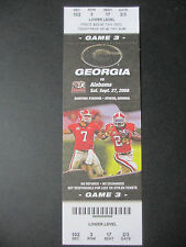2008 Alabama vs Georgia Football Ticket Official Reproduction
