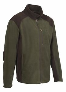 Percussion Embroidered Green Shooting fleece Jacket Man & Dog Motif