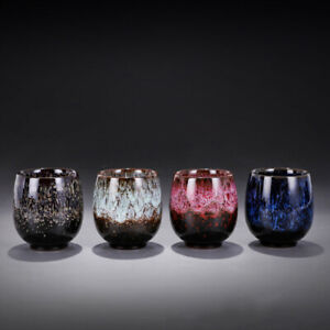 Chinese Tenmoku Glazed Tea Cup Ceramic Teacup 150ml Beer Coffee Wine Whisky Mug
