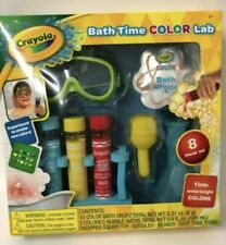 Crayola Bath Time Color Lab Kids Bathroom Toys Bubble Bath Fun SEALED