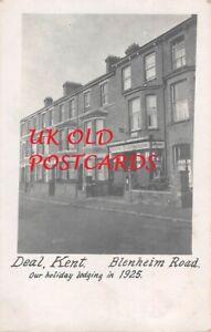 Kent - DEAL, Blenheim Road & Post Office,  Real Photo