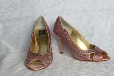 Xiomara Crystal, Genuine Leather, Leather Sole, Rose Gold