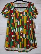 Lularoe Women's Christmas Classic T Green & Red Top Size Small NWT - A2564