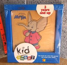 MUMFIE Elephant 1996 new wooden puzzle NWT toddler cartoon Britt Allcroft UK