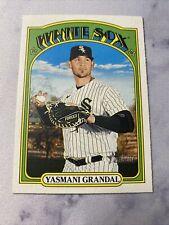 2021 Topps Heritage Baseball Yasmani Grandal Chicago White Sox Card #396