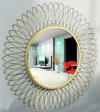 Beautiful Modern Designed Sunflower Iron Decorative Wall Mirror For Living Room