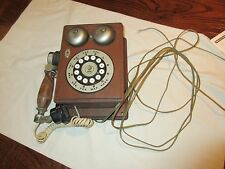 Telephones , Antique , Vintage , Rare , Brown Wood Telephone , Western Electric