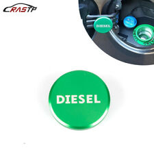 For Dodge Ram Diesel Billet Aluminum Fuel Cap Magnetic Green 2013-2017