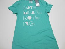 "NWT WOMEN'S ADIDAS ULTIMATE TENNIS TEE ""LOVE MEANS NOTHING"" (GREEN) SMALL"