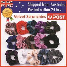 Velvet Scrunchies Ponytail Women Hair band Elastic Hair Bands Scrunchy Girls AU
