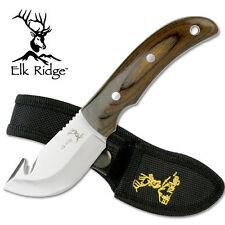 Elk Ridge Pakkawood Guthook Hunting Knife Fixed Blade Full Tang 440 Sheath ER108