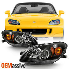 Fits 2000-2003 Honda S2000 Amber Projector Hid Xenon Headlights Replacement Pair