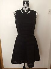 Party/Formal Stylish Little Black Skater Dress By Warehouse Size Uk10