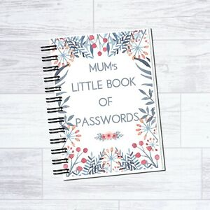 A6 MUM'S LITTLE BOOK OF PASSWORDS NOTEBOOK NOTEPAD PERFECT MOTHERS DAY GIFT