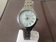 Fossil Ladies Petite Silver Mother of Pearl Dial Stainless Steel Watch BQ3131