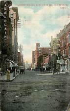 Iowa, IA, Des Moines, Locust Street, East fr 7th 1908 Postcard