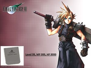 Ultimate Final Fantasy memory card Save for PlayStation 1 PS1 FF1 FF2 FFIV FFVII