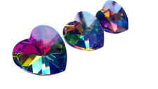 5 Vitrail Rainbow 18mm Heart Chandelier Crystals Prisms Shabby Chic