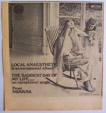 NIRVANA 1971 Advert IN LOCAL ANAESTHETIC vertigo