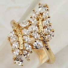 Size6 8 9 Awesom White Multi CZ Jewelry Yellow Gold Filled Woman Gift Ring R2029