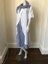 LAGENLOOK LMT Italian Linen 3 Piece Dress Navy/White Stripe UK 8 10 12 14 16 18