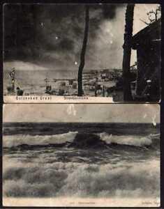 61837 2 AK Ostseebad Gral Strandpanorama 1909 1914