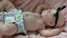 "blank GIRL TORSO WITH SUEDE BODY FITs Most 19-20"" REBORN BABY DOLL JNR *CUSTOMS*"