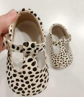 Genuine Leather Baby shoes Leopard print Girls Soft Boys T- bar summer moccasins