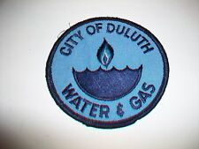CITY OF DULUTH WATER & GAS Embroidered Fabric Patch