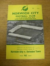 26/12/1963 Norwich City v Swindon Town  (Folded, Pen Mark On Cover). Thanks for