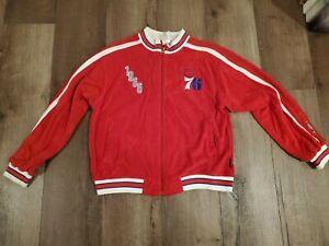 RARE Reebok Hardwood Classics 1966 Youth 14-16 Philadelphia 76ers Zip Up Jacket
