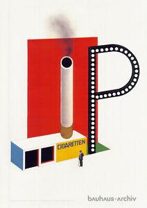 Plakat -  Bauhaus Herbert Bayer Entwurf für einen Zigarettenkiosk 1924 / Nr. 101