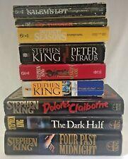 STEPHEN KING Lot of 9 HORROR - 3 FIRST EDITION - 6 PB + 3 HC Books THRILLER