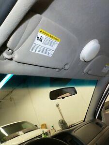 Tan Sun Visor Left Driver 03-11 Ford Crown Victoria Mercury Grand Marquis