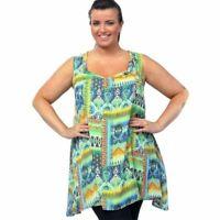 New Ladies Womens Summer Long Vest Causal Plus Size Summer Top UK 18-32