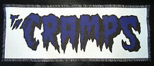 PURPLE & BLACK CRAMPS PSYCHOBILLY PUNK GOTH PRINTED AND OVERLOCKED PATCH