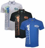Mens Max Edition CAMBRIDGE graphic style short sleeve pique polo t-shirt