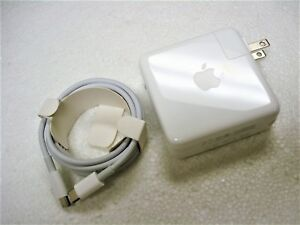 """Original OEM APPLE 13"""" MacBook Pro with USB-C Port 61W Charger + Cable A1718"""