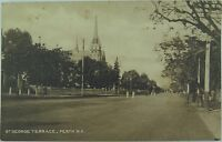 .PERTH , ST GEORGE TERRACE WEST AUSTRALIA EARLY 1900'S POSTCARD