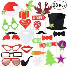 28pcs Christmas Photobooth Props Party Photo Booth Bomb Xmas Parties