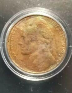 1999d Nickel Struck On Foreign Planchet Multiple Error Coin
