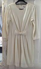 Milly Of New York Lana Y Viscosa Vestido Talla 12 EE. UU. 8 Reino Unido